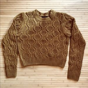 Cropped brown sweater